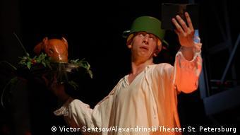 Сцена из ''Гамлета''. Режиссер - Валерий Фокин. Гастроли Александринки в Дюссельдорфе