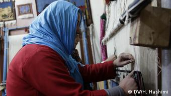 A woman at the Help center in Herat (Photo: DW)