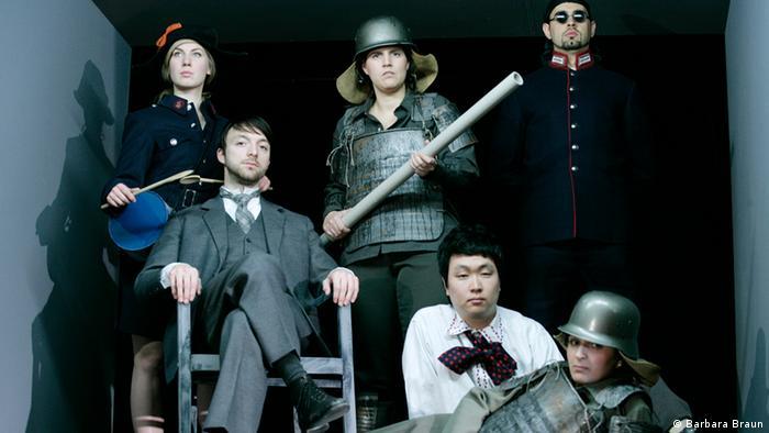 Performers in the Berlin Staatsoper Kaiser von Atlantis production Photo: Barbara Braun