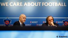 UEFA Gianni Infantino und Michel Platini
