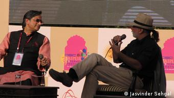 Literaturfestival Jaipur Indien 2013 Besucher Shashi Tharoor Tarun Tejpal