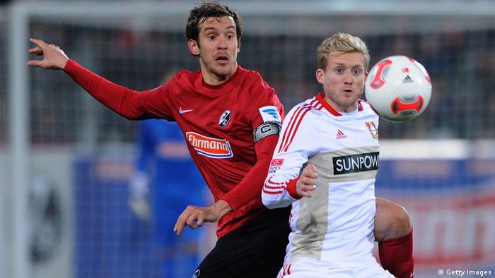 Spielszene aus dem Spiel SC Freiburg gegen Bayer Leverkusen (Foto: Michael Kienzler/Bongarts/Getty Images)