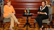 Angela Merkel mit Dilma Rousseff in Chile