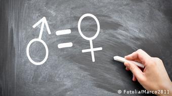 A male and female symbol