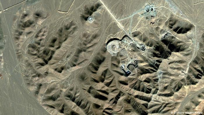 Fordo nuclear facility by air