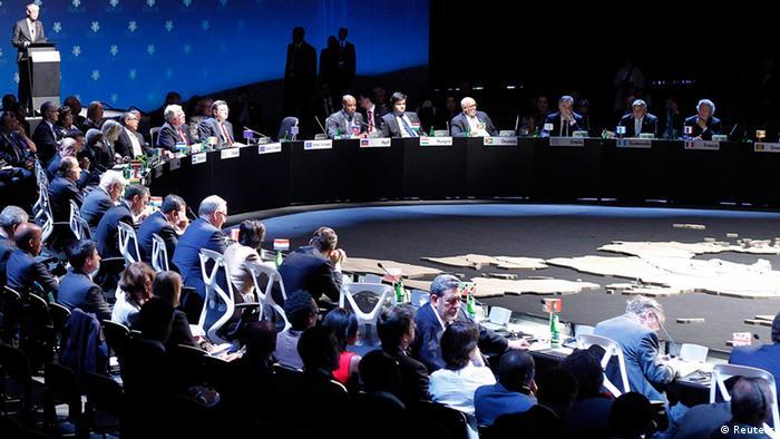 Ceremonia de clausura de la Cumbre de Santiago.