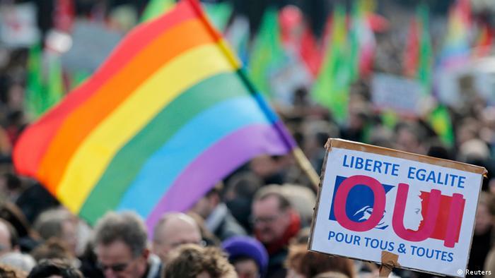 Paris Demonstration für Homo-Ehe (Reuters)