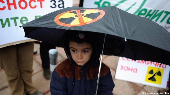 Bulgarien Abstimmung zur Atomenergie Protest