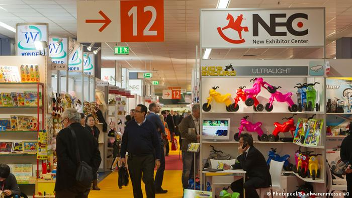 Exhibition center at the Nuremberg Toy Fair