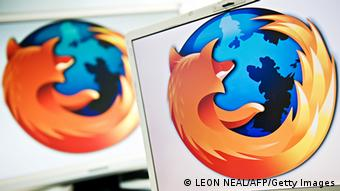 A screen displays the logo of the open-source web browser Firefox on July 31, 2009, in London, as the software edges towards it's billionth download within the next twenty four hours. First released in 2004, the browser currently holds around 31 % of the market share with Microsoft's Internet Explorer dominating the field with 60 %. AFP PHOTO/Leon Neal (Photo credit should read LEON NEAL/AFP/Getty Images)