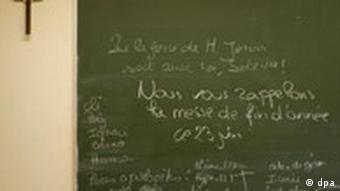 Gemälde; Tafel; Bild; Seminar; Lehrer; Professor; Mann; Mensch; Theologie; Unterricht; lernen; erfahren; Schule; Ausbildung; Studien; Studium;