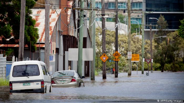 Überflutete Straßen in Brisbane (Foto: AFP/Getty Images)