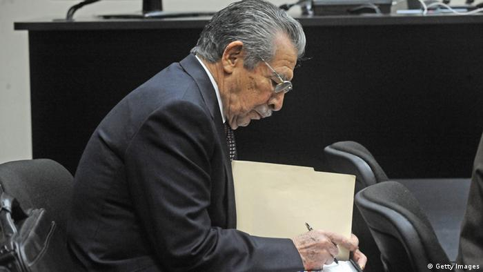 Former Guatemalan de facto President (1982-1983) and retired General, Jose Efrain Rios Montt, is seen during a court hearing in Guatemala City (Photo: ORDONEZ/AFP/Getty Images)