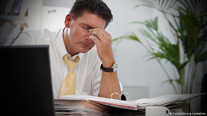 Symbolbild Stress am Arbeitsplatz