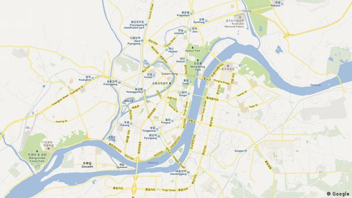 Screenshot Google Maps Südkorea Seoul +++EINSCHRÄNKUNG BEACHTEN +++