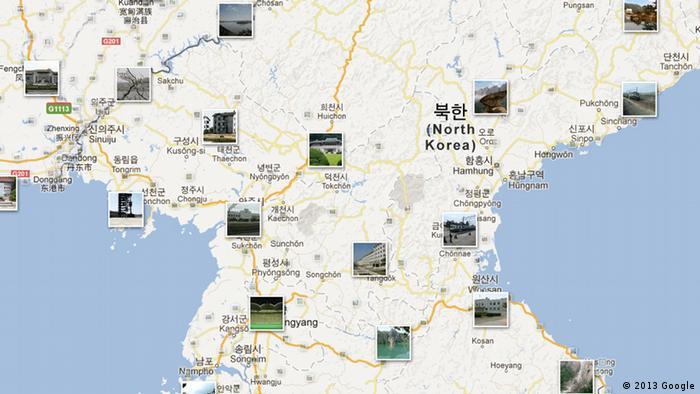 Google Maps Nordkorea Karte Landkarte Map Kartographie