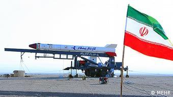 Iranian rocket Info Quelle: AP Copyright: MEHR