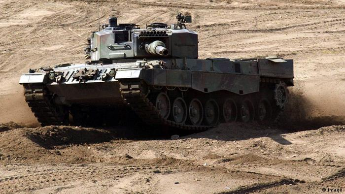 Leopard 2 A4 tank on an exercise