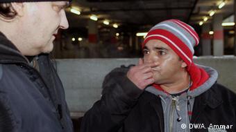 Araber und Drogensucht: Ein Drogensüchtiger aus Syrien. Das Bild wurde am 20.01.13 von Abderrahmane Ammar in Bonn aufgenommen. Copyright: DW/A. Ammar