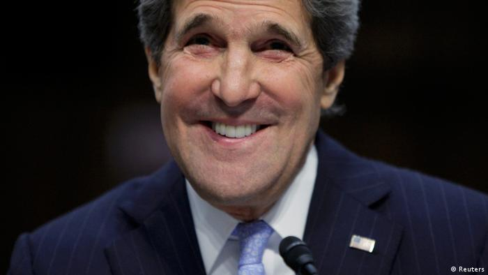 John Kerry smiles as he testifies during his Senate Foreign Relations Committee confirmation hearing (Photo: REUTERS/Jonathan Ernst)