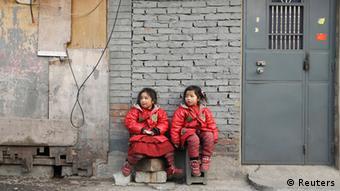 China Armut zwei Schwestern in Peking