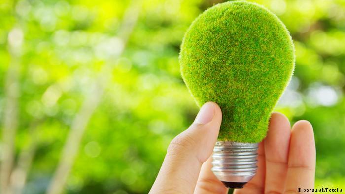 Зеленая лампочка