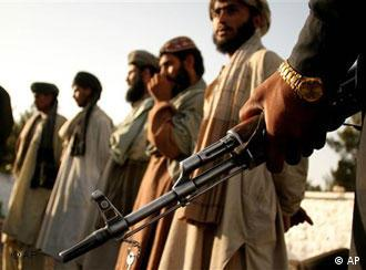 Taliban fighters arrested on the Pakistan border to Afghanistan