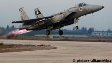 Symbolbild Israelische Kampfjets bombardieren syrisches Militär bei Damaskus
