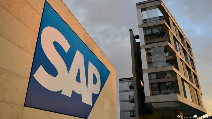 SAP logo in front of the firm's headquarters in Walldorf, Germany +++(c) dpa - Bildfunk+++ pixel