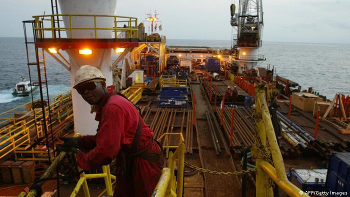 Ölplattform in Angola