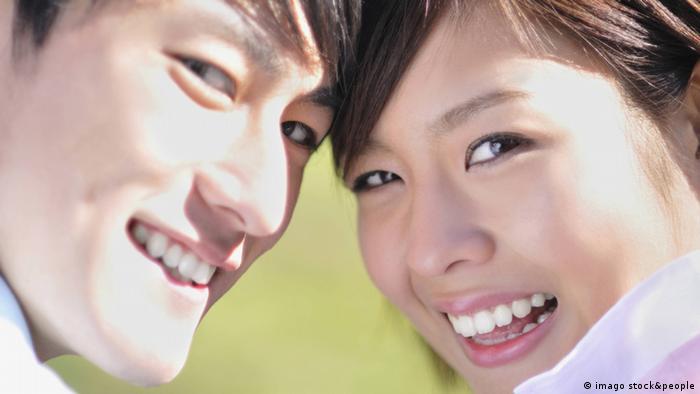 Lächelnde Japaner