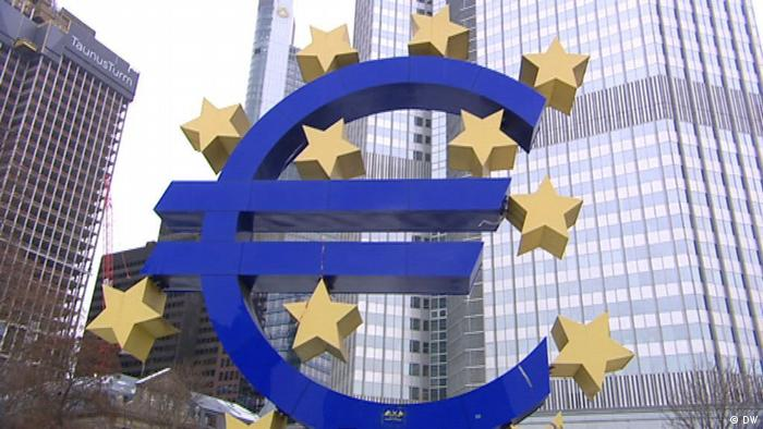 Euro-Symbol in Frankfurt am Main (Foto: DW)