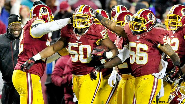 The Washington Redskins in action