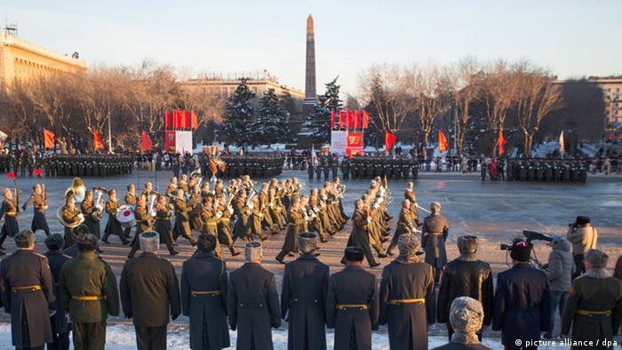 Militärparade in Wolgograd, dem früheren Stalingrad (Foto: picture alliance / dpa)