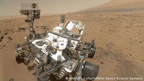 Curiosity Rover auf dem Mars. (Copyright: NASA/JPL-Caltech/Malin Space Science Systems)