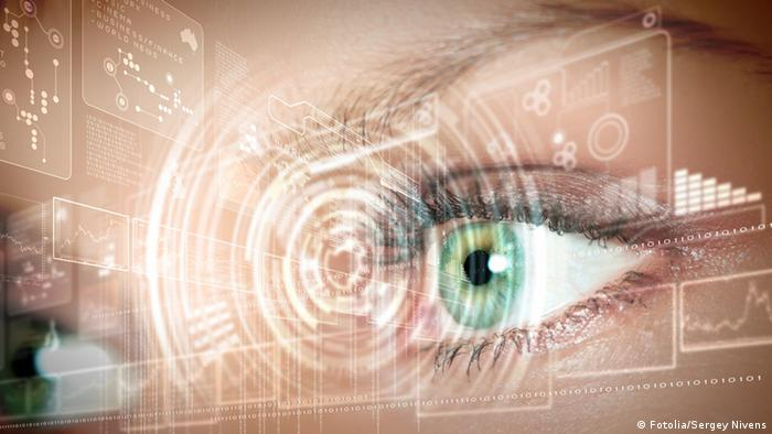 An image of a digital eye symbolizing cyber security