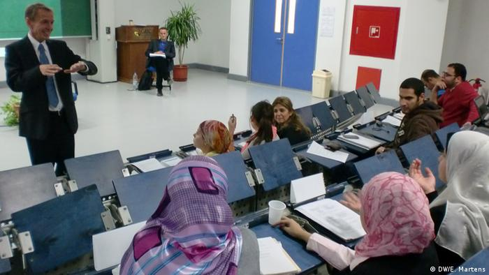 Since September 2012 DW Akademie has been cooperating with the German University in Cairo (GUC), Egypt with the Master of Business Administration in Media Management (Foto: DW Akademie/Eira Martens).