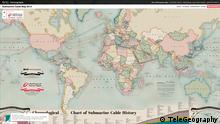 Screenshot TeleGeography Submarine Cable Map 2013