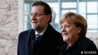 Angela Merkel and Mariano Rajoy (Photo: REUTERS/Tobias Schwarz)