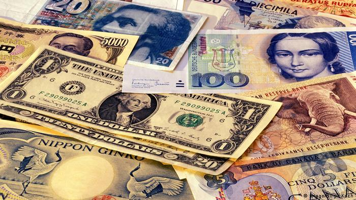Various currency notes