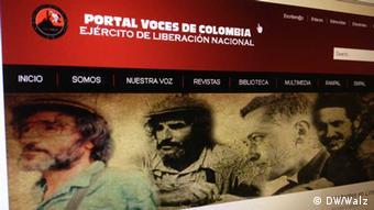 Foto der Internetseite eln-voces.com der kolumbianischen Geurillagruppe ELN am 04.02.2013 (Foto: wa)