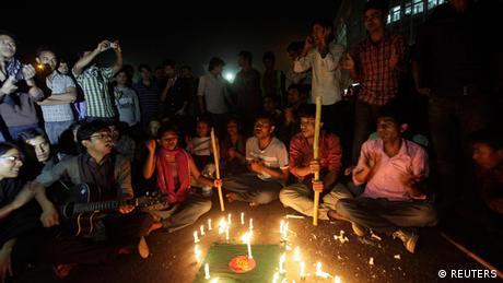 Protest gegen Kriegsverbrechen in Shahbagh