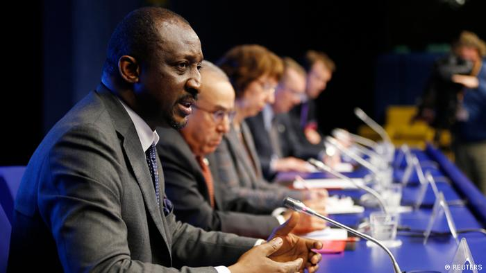 Mali's Foreign Minister at the Brussels conference on Mali. Photo: REUTERS/Francois Lenoir