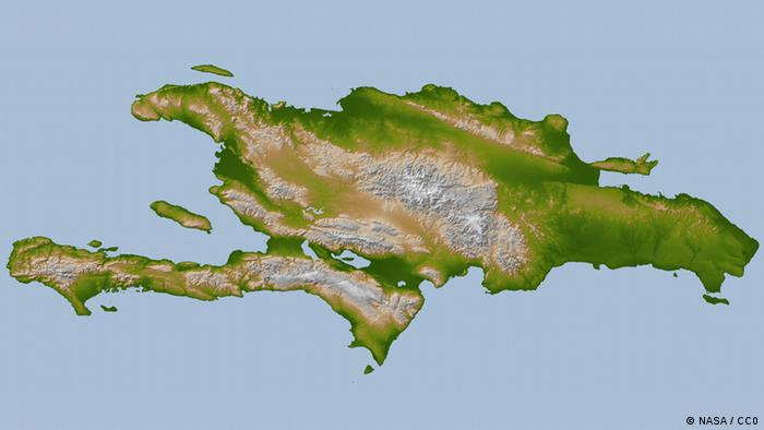 http://commons.wikimedia.org/wiki/File:Hispaniola_lrg.jpg ++ NASA / CC0 ++