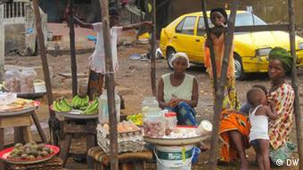 A market stall in Guinea, Conakry