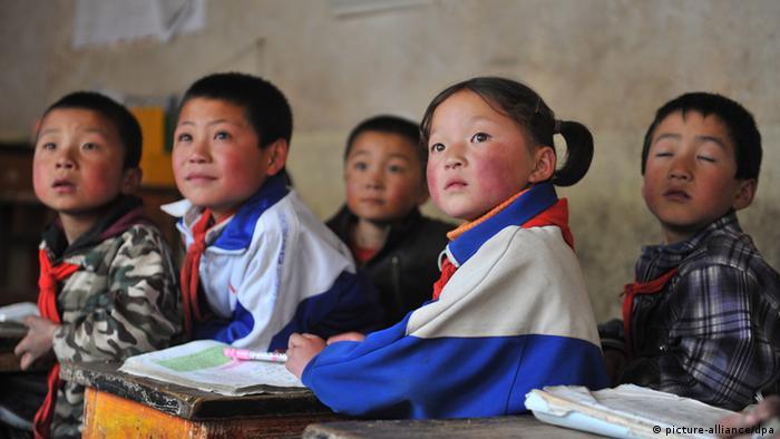 Bildung im ländlichen China Gansu keine weitere Bildbeschreibung vorhanden