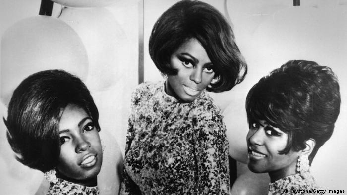 Singers Mary Wilson, Diana Ross and Cindy Birdsong