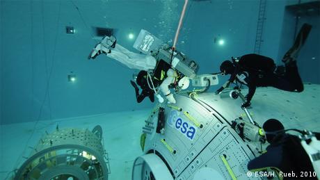 ESA Astronaut Luca Parmitano Training Archivbild 2010