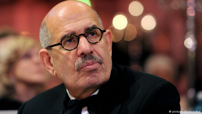 Former Director General of the International Atomic Energy Agency (IAEA) Mohamed Mustafa ElBaradei attends the charity event Cinema for Peace within the scope of the 62nd Berlinale in Berlin, Germany, 13 February 2012. Since 2002 Cinema for Peace has been a worldwide initiative, promoting humanity through film while inviting members of the international film community to attend the annual Cinema for Peace Award-Gala-Night during the Berlin International Film Festival. Photo: Pascal Le Segretain/Getty Images for Cinema for Peace