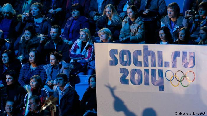 Logo von Sotschi 2014 (Foto: AP Photo/Ivan Sekretarev)